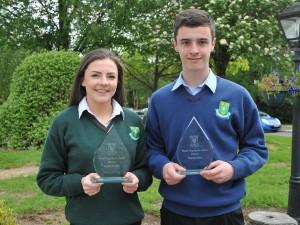 Shane Long Award Winners, Lauren Dowling and Paudie Maher